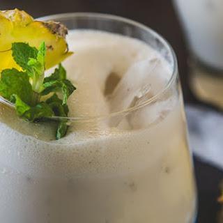 Healthy Pineapple Banana Smoothie.