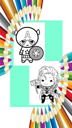 Coloring Kids Avengers Paint