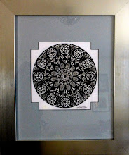 Photo: 033 NIRVANA ~ ДОСВІТА Luba Bilash original ~ ink matted & framed $350 SOLD