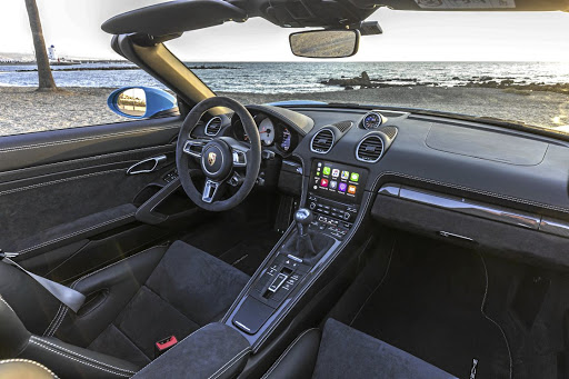 The interior of both models gets some unique GTS treatment including some alcantara trim items. Picture: PORSCHE