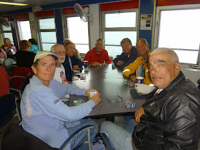 Photo: Day 40 Manitowoc to Ludington MI  The team on the SS Badger  From left Pat, Dave, Tom, Ed, Jim, Darryl, and Dale