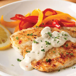 Pan-Fried Fish with Creamy Lemon Sauce for Two.
