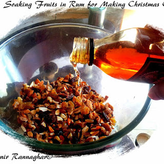 Rum soaked Fruits & Nuts for Christmas cake
