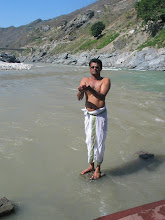 Photo: morning sandhya in Bhagirathi