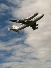 Photo: @mrulon- Malia Rulon Herman, Washington reporter  Shuttle flying over DC now and I am still trying and trying to post my awesome photo from the Dulles flyover! #fail #spottheshuttle #OV103