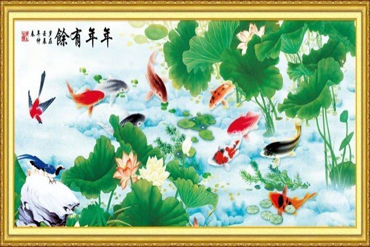 Ý nghĩa và cách treo các loại tranh cá chép phong thủy hút lộc tài