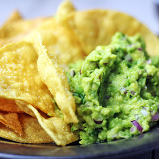 Chipotle Lime Chips and Guacamole (Copycat)