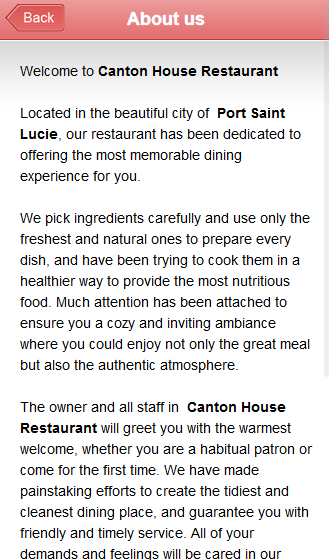 Canton House Restaurant- screenshot