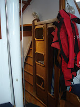 Photo: Storage of life jackets, safety harness's, Rig cutters are stored in the Starboard lockets