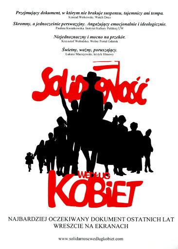 Przód ulotki filmu 'Solidarność Według Kobiet'