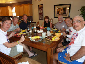 Photo: Day 20 Casper WY Dinner at the home of Jim Hirz, Debbie to the right of Jim.