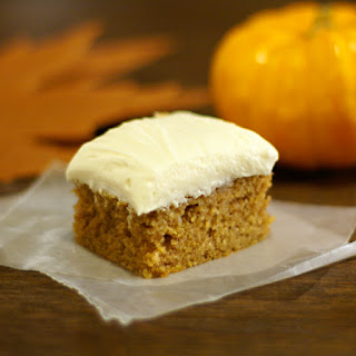 Pumpkin Bars w/Cream Cheese Frosting