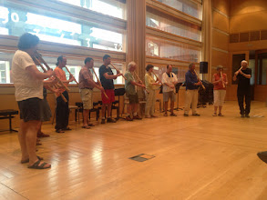 Photo: Student concert Final day All the new jinashi flutes made at John's workshop!