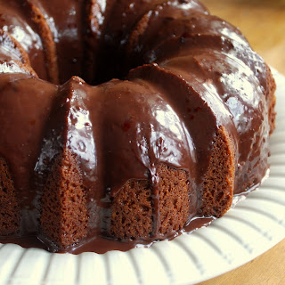 Chocolate Peanut Butter Bundt Cake.