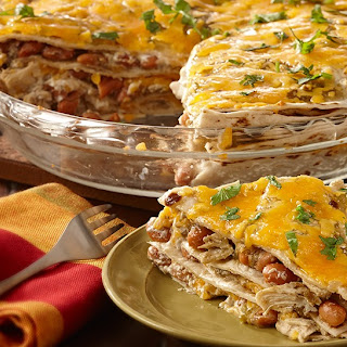 Easy Chicken Enchilada Casserole.