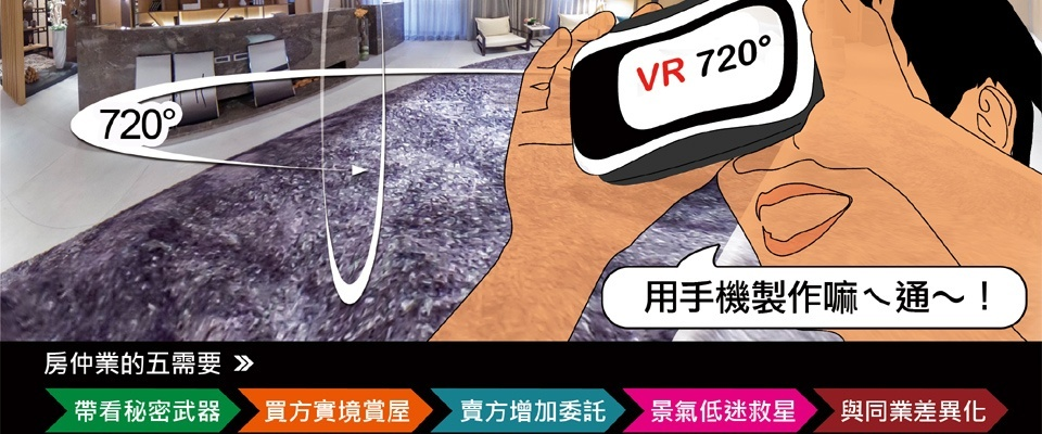 搭配手機就可以如臨實境的虛擬賞屋。