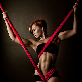Rembrandt Bry 3 by Monte Arnold - People Portraits of Women ( training, silk, abs, cloth, fitness, strength, beautiful, redhead, bikini, beauty, #GARYFONGDRAMATICLIGHT, #WTFBOBDAVIS,  )