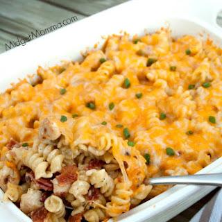 Cheesy Chicken Bacon Ranch Pasta Casserole Recipe