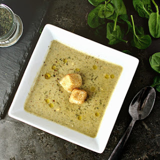Dill and Spinach Chickpea Soup