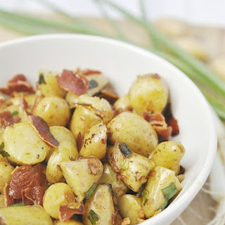 Fingerling Potatoes with Prosciutto.