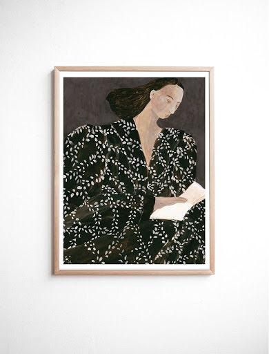 Reading poster 40x50 cm