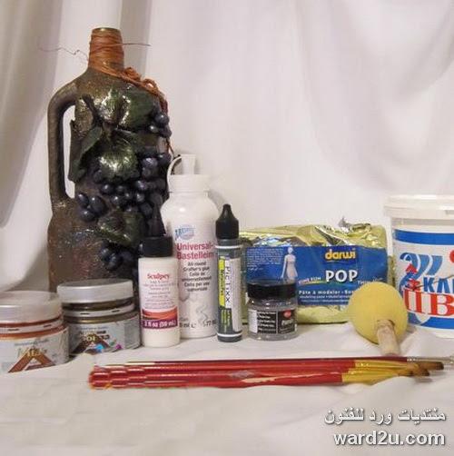 عنقود عنب خامات منوعة تزيين زجاجات و حوائط