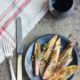 Balsamic Braised Endive with Toasted Pine Nuts
