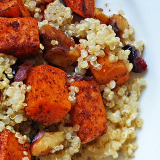 Quinoa Sweet Potato Salad with Walnuts & Dried Cranberries Recipe