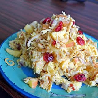 Apple Walnut Chicken Curry Salad.