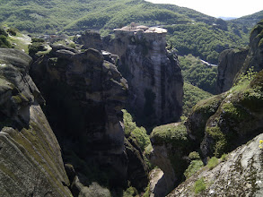 Photo: view from Metamorphosis monastery to another one nearby