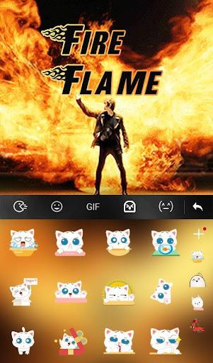 Live 3D Fire Flame Keyboard Theme 6.8.18.2018 screenshots 4