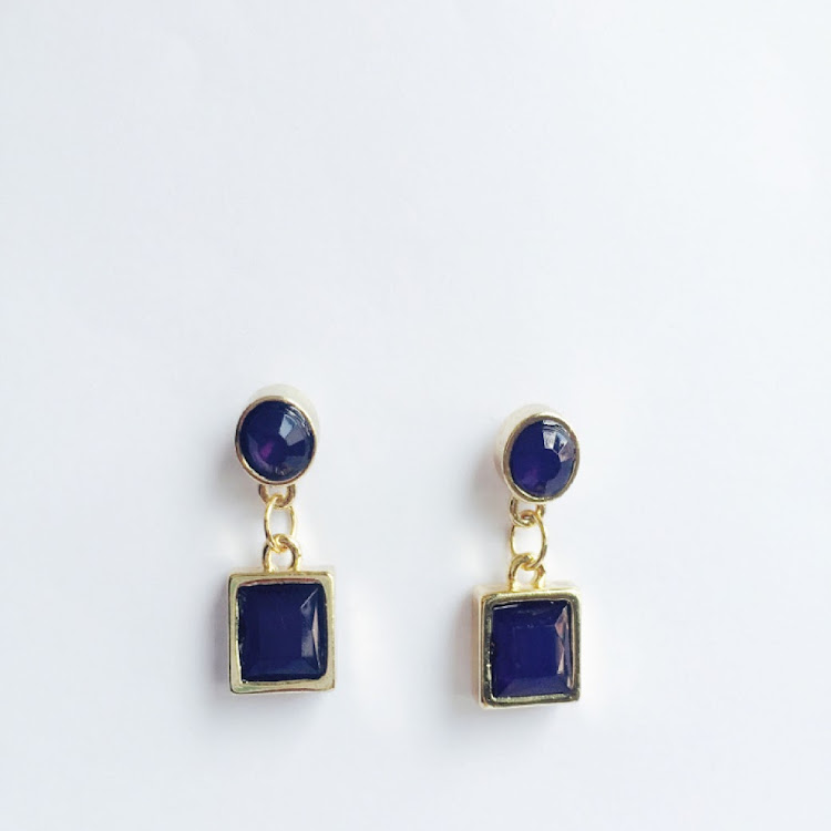 E028 - B. Cushy Argosy Marine Blue Earrings by House of LaBelleD.