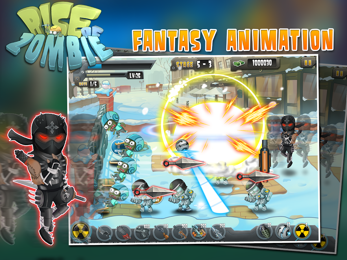Screenshots of Rise of Zombie - City Defense for iPhone