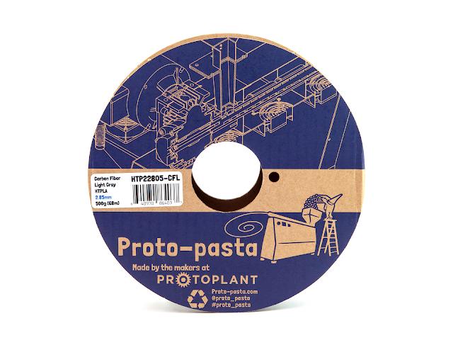 Proto-Pasta Carbon Fiber Light Gray HTPLA Filament - 1.75mm (0.5kg)