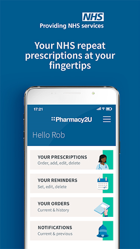 Pharmacy2U NHS Prescriptions screenshot for Android