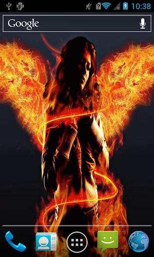 Girl with fiery wings Live WP