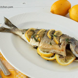 Baked Sea Bream With Sage And Lemon Sauce