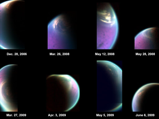 Snapshots of Titan North Polar Cloud