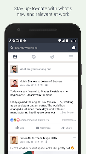 Workplace by Facebook Screenshot