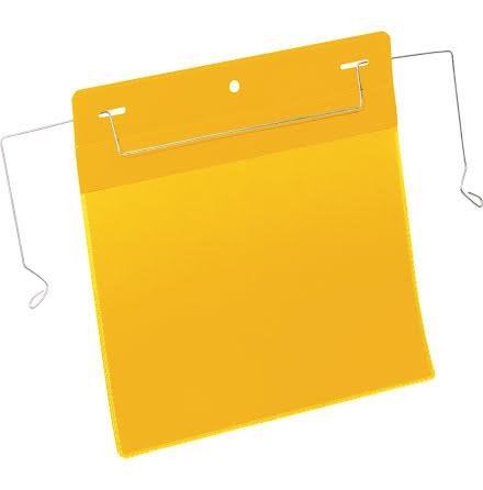 Plastficka A5L trådbygel gul