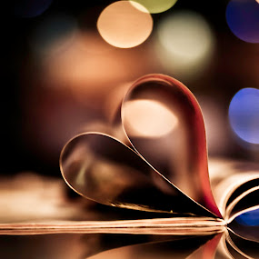 Heart Bokeh  by Sudheer Hegde - Artistic Objects Other Objects ( love, heart, color, book, d5000, 50mm, nikon, bokeh )