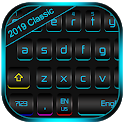 Classic Color Fluorescent Metal Black Keyboard icon