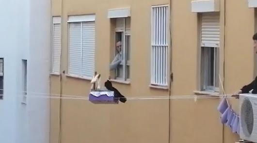 La Semana Santa, de balcón a balcón