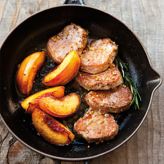 Pork Medallions with Roasted Nectarines