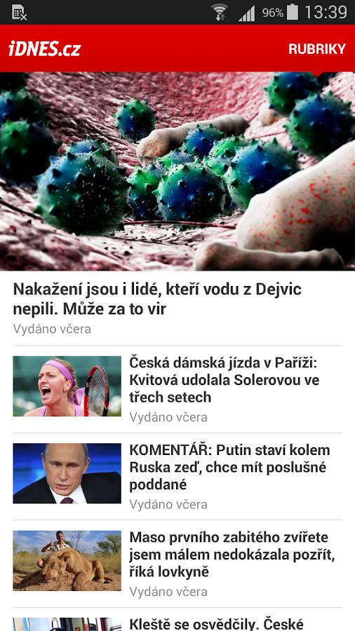 iDNES.cz- screenshot