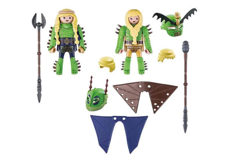 Contenido real de Playmobil® 70042 chusco y Brusca con Traje Volador