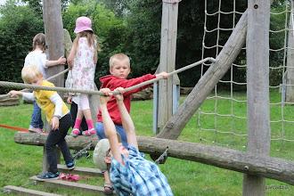 Photo: I linowe (wnuk stawia pierwsze kroki przed ferratami)
