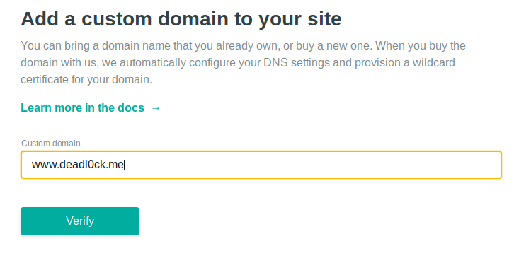 Use Custom Domain