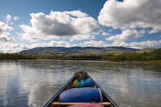 Photo: auf dem Yukon Richtung Carmacks