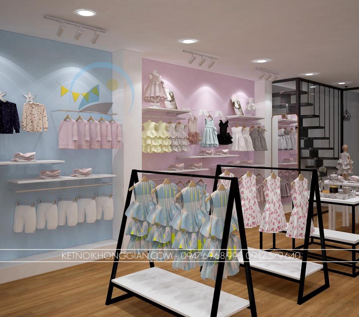 thiết kế shop thời trang trẻ em giá rẻ 8